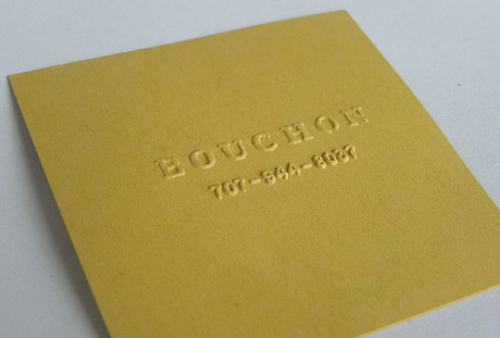 Photo of a beautifully designed business card.