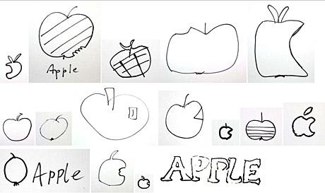 apple scribbles