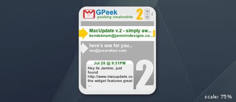 gpeek widget
