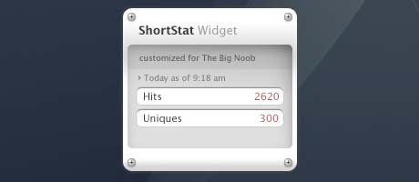 shortstat widget