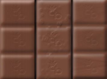 Photoshop filters on chocolate