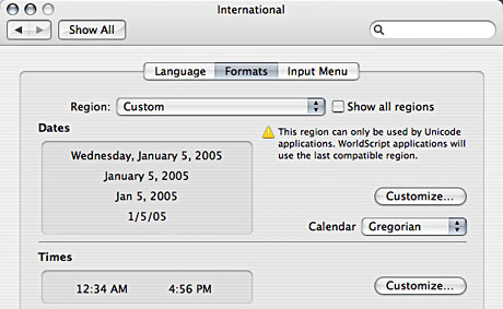 international system preferences