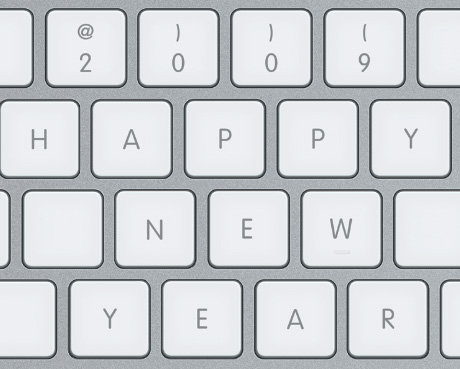 happy new year 2009 keyboard