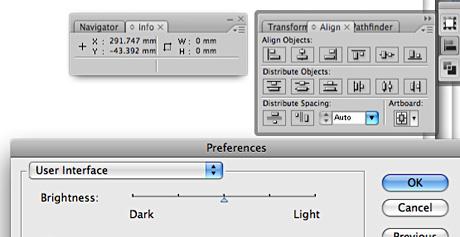 grey interface