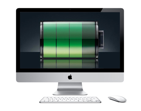 iMac with battery