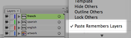 paste remember layers option